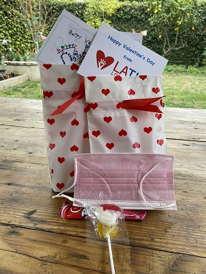 Valentine goody bag and mask